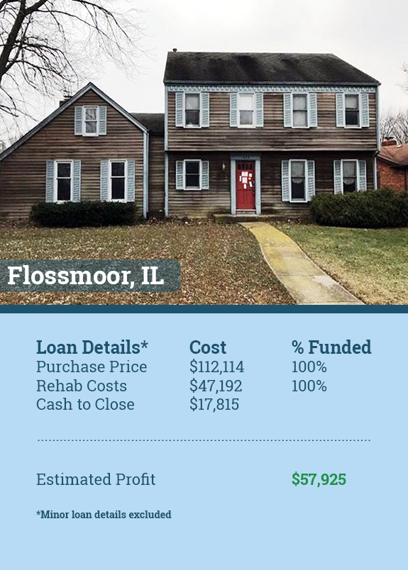 flossmoor illinois flip funded