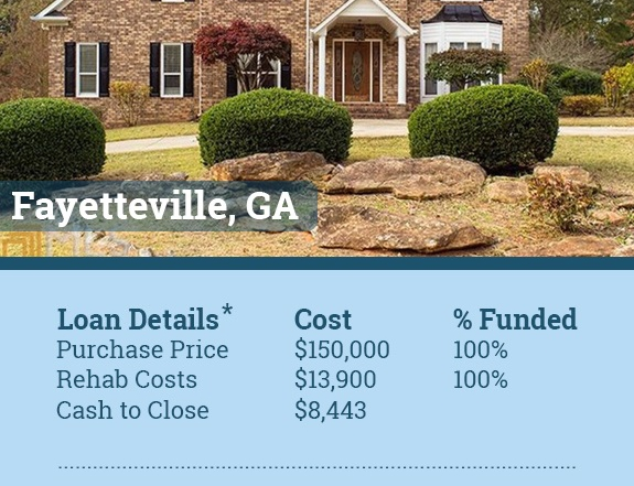 fayetteville georgia flip funded